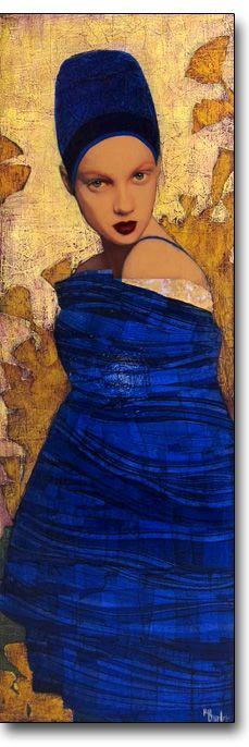 Derviche by artist Richard Burlet was born in France in He is influenced by Austrian symbolist painter Gustav Klimt and Art Nouveau. Richard Burlet, Art Bleu, Kunst Online, Art For Art Sake, Art Graphique, Gustav Klimt, Figure Painting, Blue Painting, Portrait Art