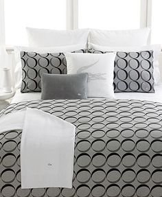 Lacoste Aublet Bedding Collection White Way Dry Cleaners is hosting a all May long! Lacoste, Bed N Bath, Bed Ensemble, Masculine Interior, Guest Bed, Guest Room, White Bedding, My New Room, Bedding Collections