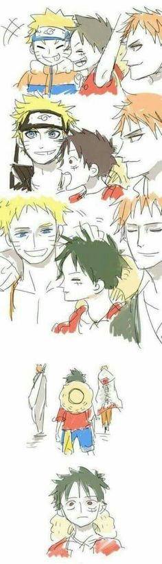 One Piece, Naruto, Bleach
