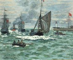 Claude Monet, Entrance to the Port of Le Havre on ArtStack #claude-monet #art