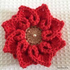 Flor coração passo a passo - croche.com (67)