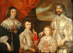 Sir Francis Ottley and Family    Painted by Petrus Troueil in 1638