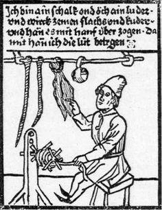 Seilerei im Mittelalter