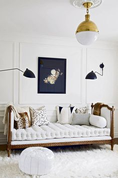 Modern Parisienne living room inspiration // Pretty Little Details