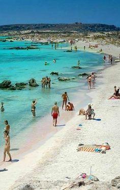 Elafonisi Beach.. in Crete Island, Greece