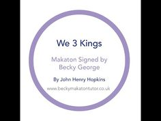 (13) We three Kings - Makaton signed by Becky George - YouTube Makaton Signs, Matt Redman, We Three Kings, Epiphany, Amazing Grace, Craft Activities, The Creator, Presentation, Songs