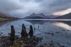 Loch Leven. Pap of Glencoe. Last Light. Highland Scotland.