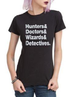 Hunters Doctors Wizards Detectives Girls T-Shirt