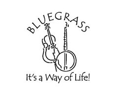 BLUEGRASS Banjo Stand Up Bass car decal by CareyCrafts on Etsy