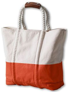 Women's Pattern Rope Handle Tote Bag from Lands' End | My Style ...