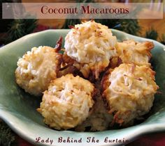 Coconut Macaroons - Lady Behind the Curtain