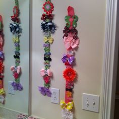 DIY hair bow holders...