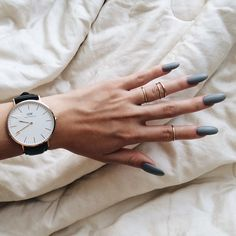 Matte grey | @goldsoul rings | @danielwellingtonwatches (use 'marycake for 15% off)