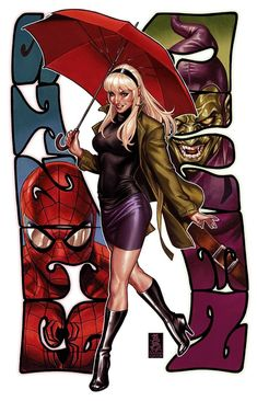 Marvel Comics. Comic Book Artwork • Gwen Stacy by Mark Brooks. Follow us for more awesome comic art, or check out our online store www.7ate9comics.com