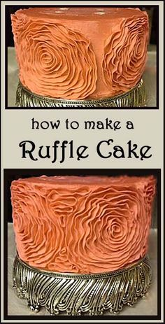 How to make a Side Ruffle Wedding Cake | Little Delights