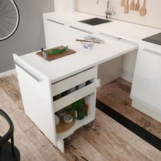 44 best small kitchen design ideas for your tiny space 28 Small Kitchen Remodel Design Ideas Kitchen Small Space Tiny Kitchen Table Small Space, Mini Kitchen, Small Space Living, New Kitchen, Kitchen Small, Kitchen Ideas, Loft Kitchen, Kitchen Decor, Living Spaces