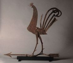 One Good Eye - large sheet iron rooster weathervane Rooster Art, Weather Vanes, Primitive Antiques, Coq, Farm Yard, Bird Design, Cool Eyes, Fun To Be One, Metal Art