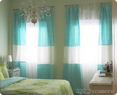 Tablecloths into curtains. Diy draperies