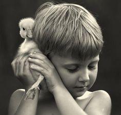 Madre rusa Toma Imágenes mágicas de sus dos hijos con los animales en su granja | videografoto