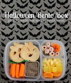 Halloween Bento Box & Other Spooky Lunch Ideas (Modern Parents Messy Kids) Halloween Lunch Ideas, Healthy Halloween, Halloween Projects, Lunch Box Bento, Lunch Snacks, Bento Food, Healthy Lunches, Lunch Boxes, Halloween Cookies