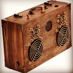 The Roosevelt 2 by #junkbox Made from found wood and reengineered speakers
