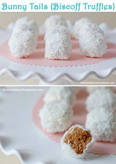 Bunny Tails (Biscoff Truffles) #easter #easterbunny #spring