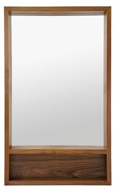 Add dimension to any room with the shadow-box frame of our Loft mirror. The clean, modern silhouette is crafted from solid wood. Choose the shelf option for beautiful functionality in your entryway, bedroom or bath. Loft can hang vertically or horizontally.