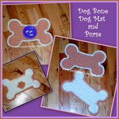 Make this cute dog bone mat and matching purse with Lion Brand Wool-Ease Chunky! Get the free crochet pattern by Sara Sach (Posh Pooch Designs) on Ravelry!
