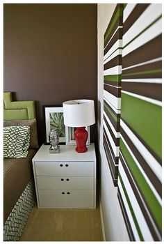Diy Striped canvas wall art (paint and painter's tape)