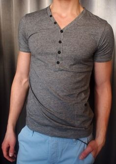 GSUS micro-striped t-shirt $80, with blue Sydney pant $180 from Gotstyle Menswear.