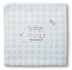 SwaddleDesigns Organic Ultimate Receiving Blanket, Prints, Pastel Blue Dots and Stars - http://www.discoverbaby.com/new-arrivals/furniture/swaddledesigns-organic-ultimate-receiving-blanket-prints-pastel-blue-dots-and-stars/