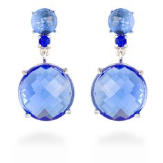 Vic earrings Blue #LuxenterJoyas #LuxenterSilver