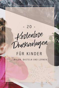 Druckvorlagen für Kinder, Zahlen, Flash Cards auf deutsch, Montessori at home, Übungen zu Zahlen, Alphabet, Schneiden und Farben