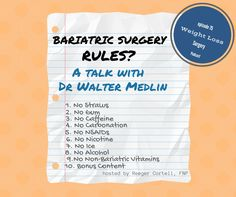 075 Bariatric Surgery Rules? A talk with Dr Walter Medlin