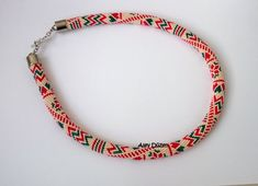 Happy Christmas  Cream Color  Red  Green  Bead by alevduzen