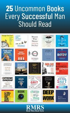 Let me share 25 uncommon books that I highly recommend for men who are driven to succeed (all of which are available on Audible). Best Books For Men, Books For Teens, Teen Books, Best Self Help Books, Top Books To Read, Good Books, Ya Books, Book Suggestions, Book Recommendations