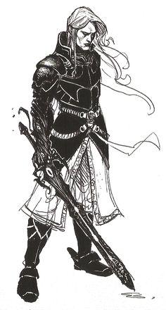 Elric drawn by Julien Blondel