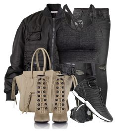 """""""Untitled #2829"""" by xirix ❤ liked on Polyvore featuring Givenchy, Ksubi, Balenciaga, adidas and H&M"""