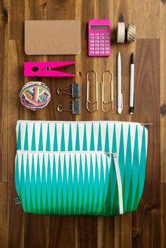 Caroline Okun Clover Pouch | DENY Designs Home Accessories