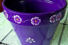 Como pintar vasos de cerâmica