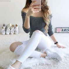 White #Jeans ... Isn't it wow?  For more visit: