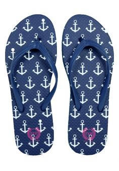 Anchor flip flops in solid colors                                                                                                                                                      More