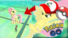 Fluttershy plays Pokemon Go: Gen 2 🍉 | CHASED BY A DOG!
