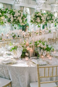 Wedding Linens, Wedding Chairs, Wedding Tables, Wedding Reception, Wedding Table Centerpieces, Wedding Decorations, Tall Centerpiece, Ashford Estate, Enchanted Garden Wedding