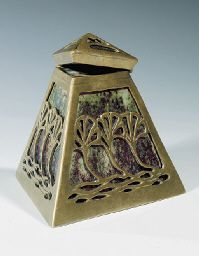 Pierre-Adrien Dalpayrat - mounted ceramic inkwell, c. 1900.