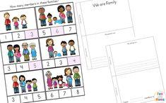 family members worksheet for kindergarten