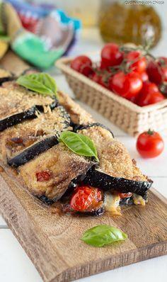 ROTOLO DI MELANZANE RIPIENO ricco di gusto! Facile facile #ricetta #food #melanzane #estate