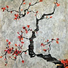 Newspaper Decoupage Art - Gradification Creates This Collage of a Japanese Cherry Tree (GALLERY)