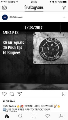 12 min AMRAP: squats, push ups, burpees