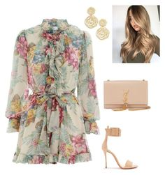 """""""Untitled #942"""" by lovelifesdreams on Polyvore featuring Christian Louboutin, Yves Saint Laurent, Karine Sultan and Zimmermann"""